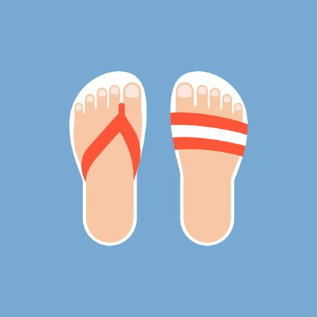 sandalias: sandalias de ilustraci�n vectorial, dise�o plano Vectores