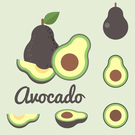 avocado: Vector avocado, flat design
