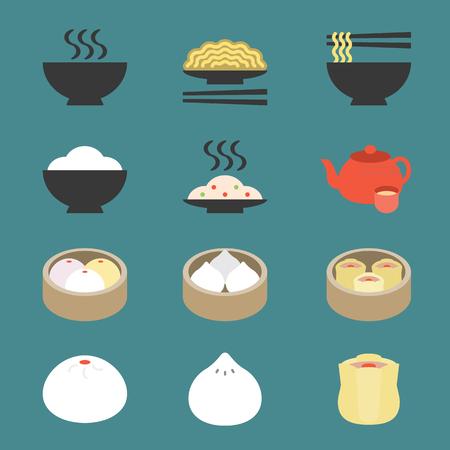 Vector Chinese keuken Vector Illustratie