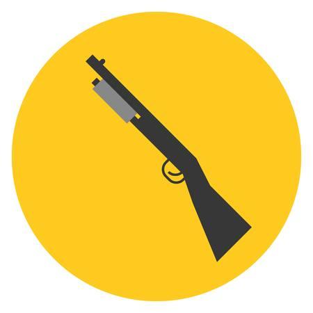 shot gun: Vector shot gun, flat design