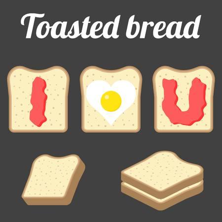 toasted bread: Toasted bread Illustration