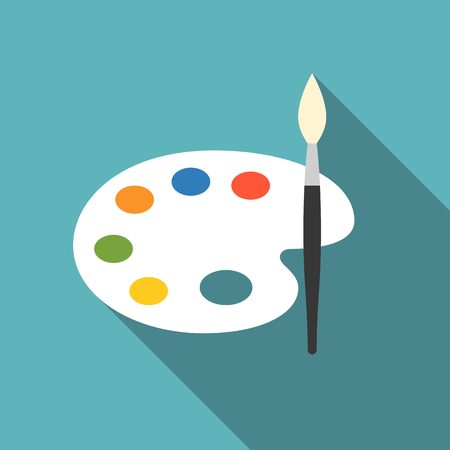 kleurenpalet pictogram plat ontwerp