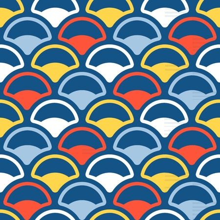 fish scale: Vector fish scale in asian style, seamless pattern Illustration