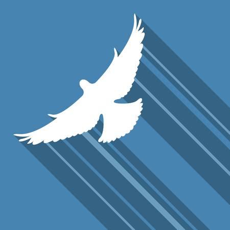bird fly: bird fly flat design Illustration
