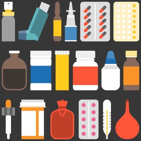 inhalation: Medicine collection set