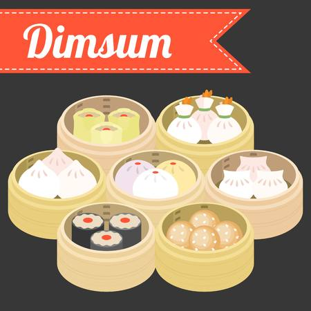 Vector Chinese Food Dimsum
