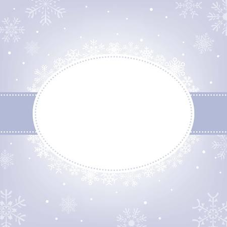 no gradient: Vector snowflakes frame, no gradient