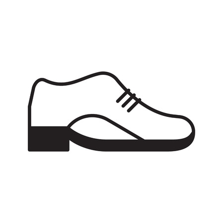 leather shoe: Vector leather shoe icon