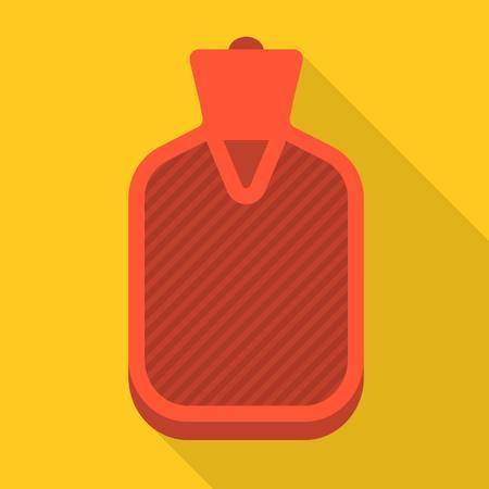 Vector hot water bag, flat design Vectores