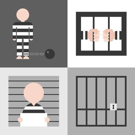 prisoner: Vector prisoner, flat design Illustration