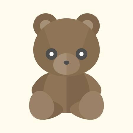 Vektor Teddybär Ikone, flaches Design Standard-Bild - 65889504