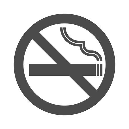 non  smoking: Non smoking area sign symbol, silhouette