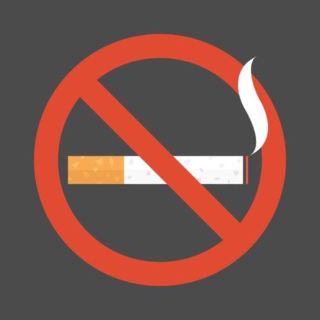 non  smoking: Non smoking area sign symbol, flat design