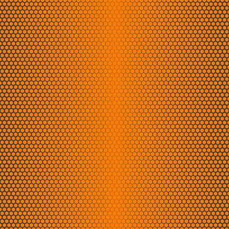 honey tone: hexagon seamless pattern background, no mesh, no gradient, no transparent, line half tone on honey theme Illustration