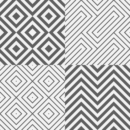 rigorous: geometric seamless pattern background, diagonal square and zigzag textile vector