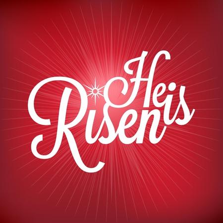 he no background: He is risen typographic, Jesus risen concept with light burst, beam of light background, mesh tool, no gradient