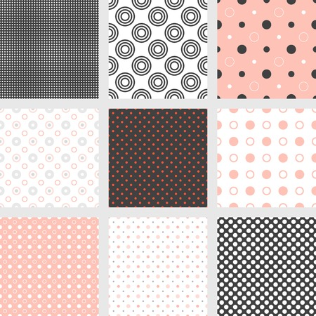 Madras: madras, dot, polka dot, bird eye, circle, bubble seamless pattern vector suitable for background, backdrop, fabric, printing greeting card, paper wrapping gift Illustration