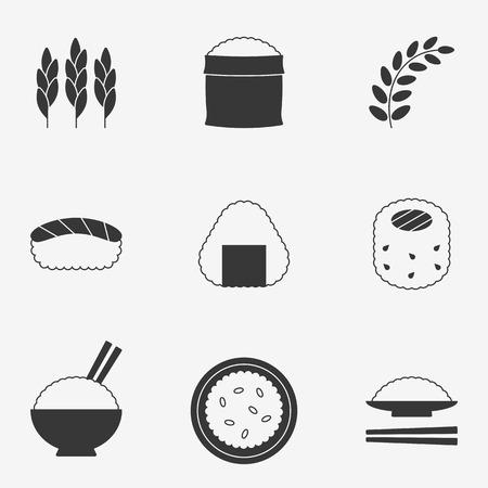 jasmine rice: rice icon , silhouette design icon