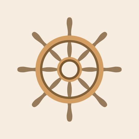 helm: Vector helm icon, flat design