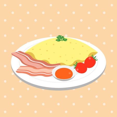 pancake e tè, design piatto