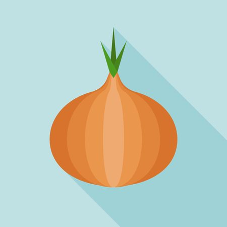flat: onion icon, flat design Illustration