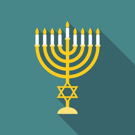 Vector menorah, flat design
