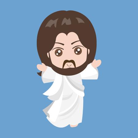 Vector Jesus rising,flat design