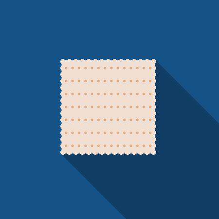 matzah: Matzah, Passover cracker vector Illustration