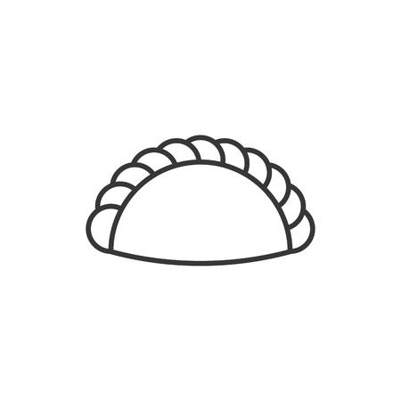 菓子記号とカレーなどのロゴとして使用するための概要アイコン