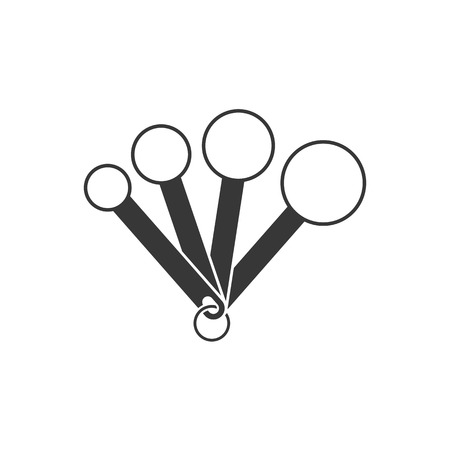 maatlepel, silhouet ontwerp pictogram
