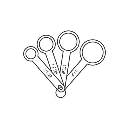 maatlepel, schets ontwerp pictogram