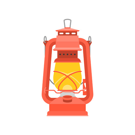 A hurricane oil lantern in white background.