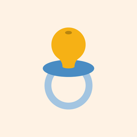 soothers: baby soother in flat design icon Illustration