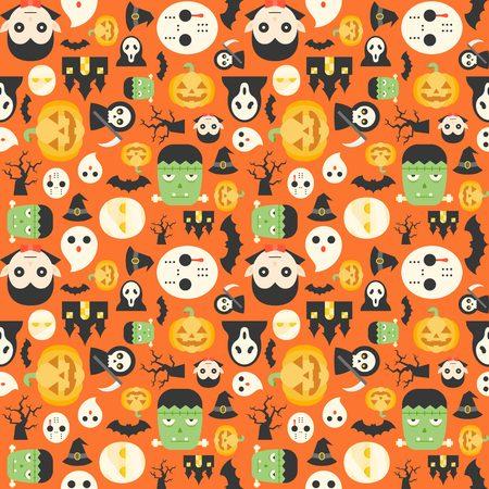 Halloween cute cartoon character background