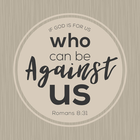 If God is for us who can be against us from bible, printable card from new testament.