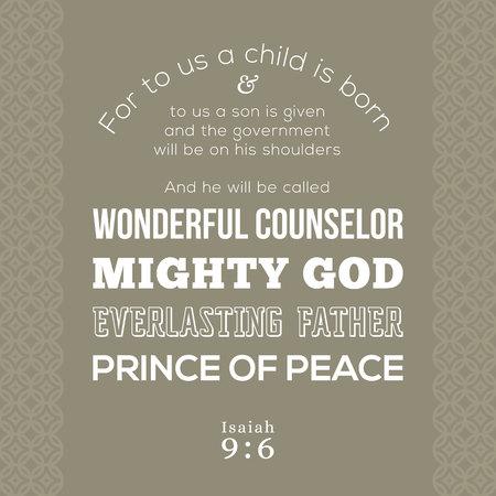 聖書の t シャツ印刷のイエスについて詩や飛行、ワンダフル カウンセラー、強大な神、永遠の父、平和の王子様について預言イザヤ書からポスター