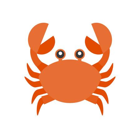 Cute crab cartoon icon.