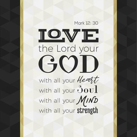 Bible Quote Mesmerizing Bible Quote For Print Or Use As Poster Love The Lord Your God