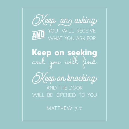 Bible quote from Matthew.