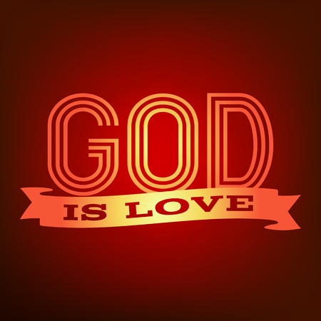 God is love typography poster.