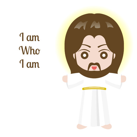Jesus christ design over white background, vector illustration.  イラスト・ベクター素材