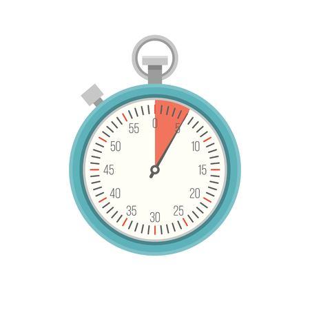 Timer icon vector, flat design
