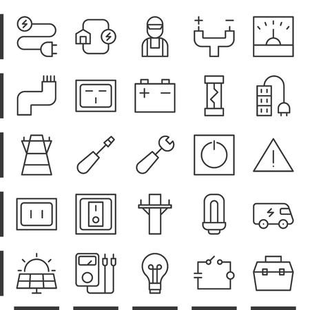 Electric and energy outline icon , pixel perfect Illustration