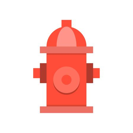 Fire hydrant simple icon, flat design