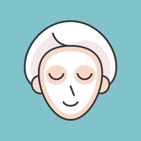 Face mask , beauty concept filled outline icon