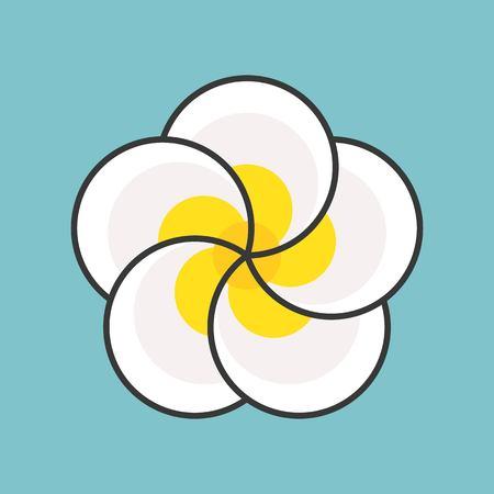 plumeria flower, filled outline icon Фото со стока - 99450391