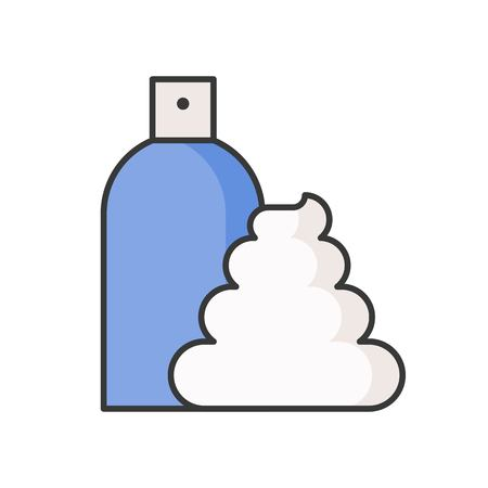 Mousse foam and container, filled outline icon.