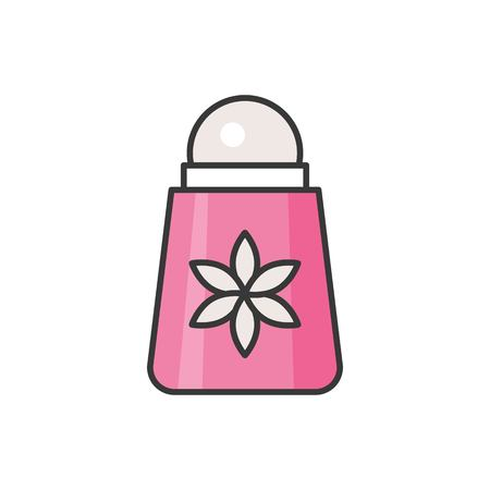 Roll on desodorante, icono de contorno lleno