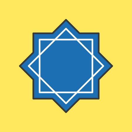 Rub el Hizb muslim symbol icon for ramadan mubarak