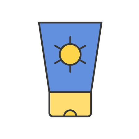 Sunscreen tube, filled outline icon